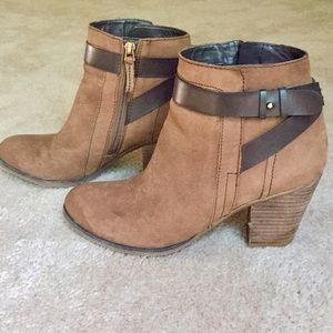 Franco Sarto - Brown Leather Ankle Boots